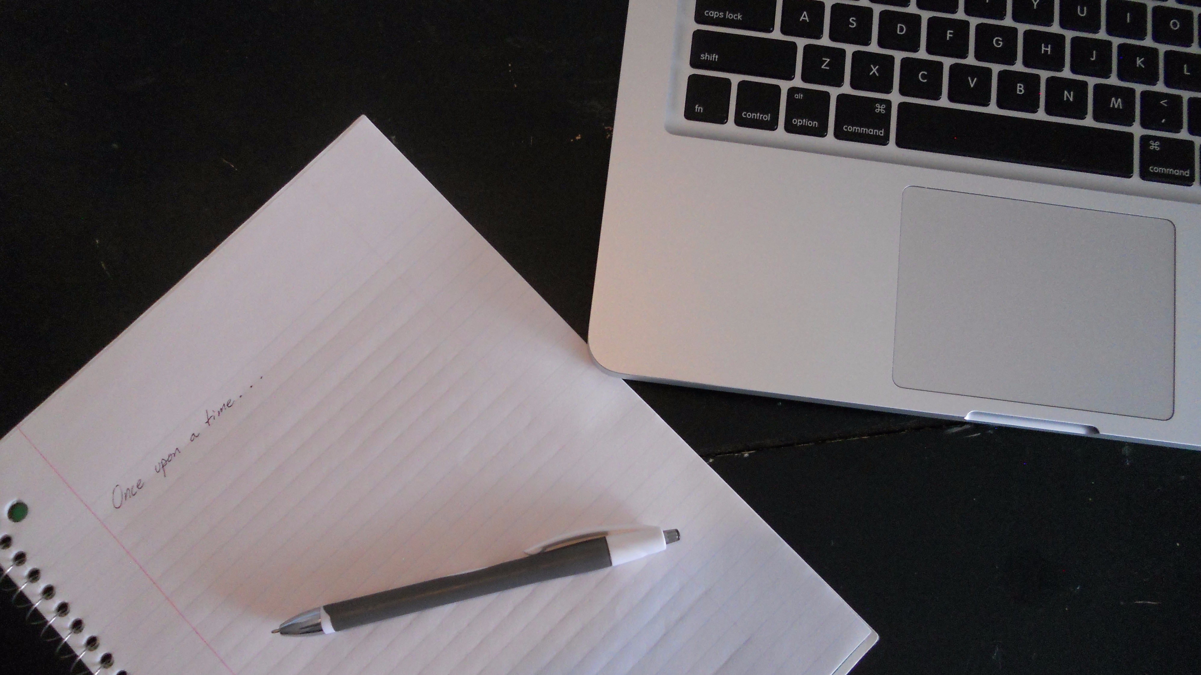 start writing with pen, paper, keyboard